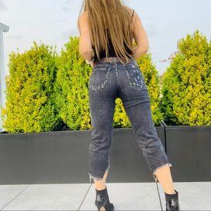 R13 Boyfriend Crop Relaxed Italian Destroyed Jeans